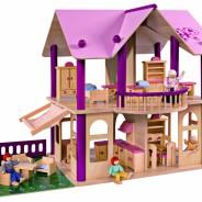 Puppenhaus aus Holz oder Kunststoff
